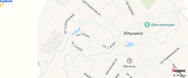 Улица Сатра на карте села Ильчино с номерами домов