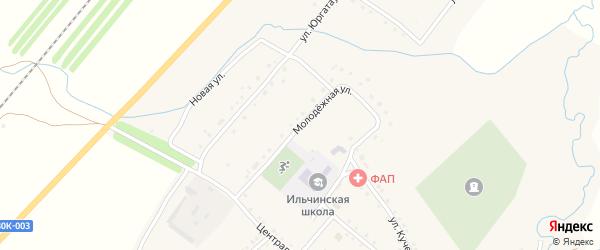 Молодежная улица на карте села Ильчино с номерами домов