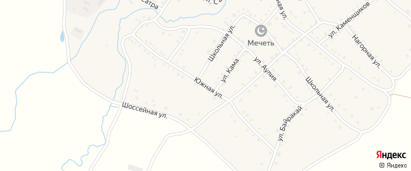 Южная улица на карте села Ильчино с номерами домов