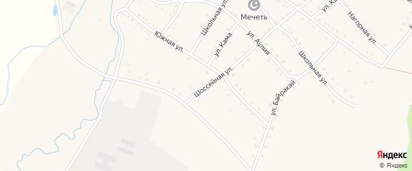 Шоссейная улица на карте села Ильчино с номерами домов