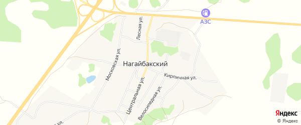 Карта Нагайбакского поселка в Челябинской области с улицами и номерами домов