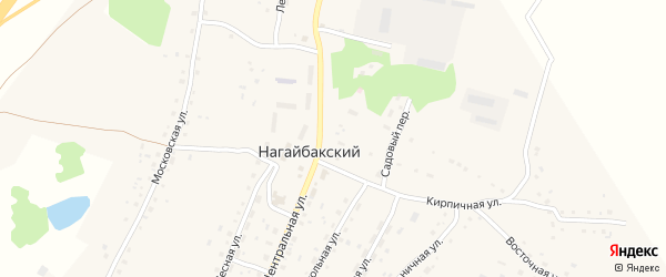 Рассыпная улица на карте Нагайбакского поселка с номерами домов