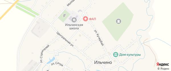 Улица Учителей на карте села Ильчино с номерами домов