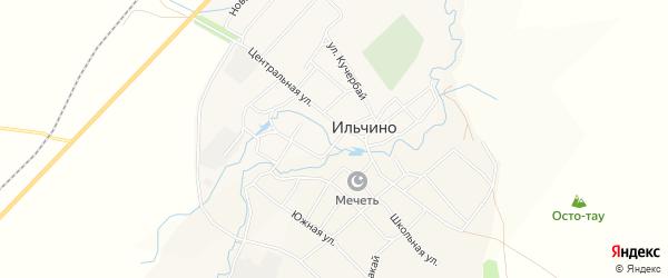 Карта села Ильчино в Башкортостане с улицами и номерами домов