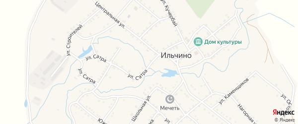 Улица Х.Яппарова на карте села Ильчино с номерами домов