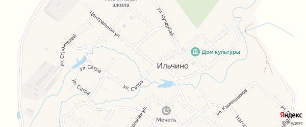 Центральная улица на карте села Ильчино с номерами домов