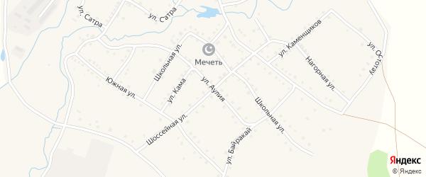 Улица Аулия на карте села Ильчино с номерами домов