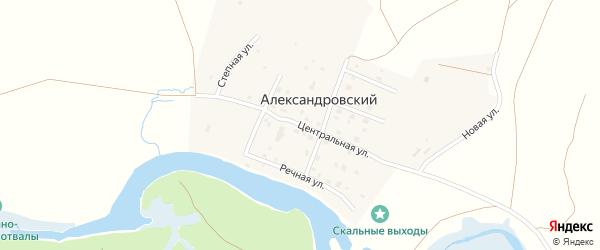 Центральная улица на карте Александровского поселка с номерами домов