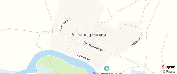 Речная улица на карте Александровского поселка с номерами домов