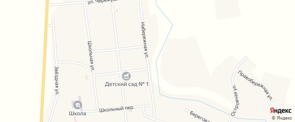 Набережная улица на карте Зингейского поселка с номерами домов