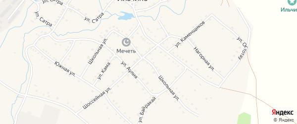 Школьная улица на карте села Ильчино с номерами домов