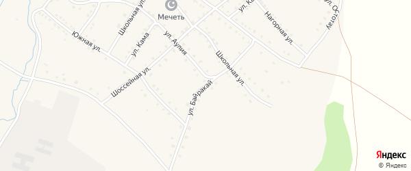 Улица Байракай на карте села Ильчино с номерами домов