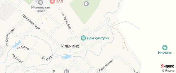 Партизанская улица на карте села Ильчино с номерами домов