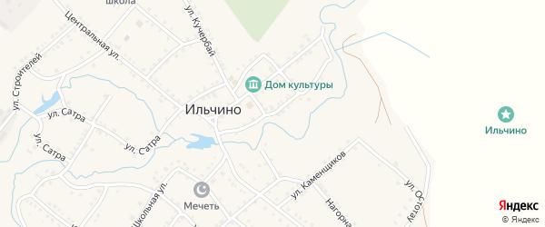 Набережная улица на карте села Ильчино с номерами домов