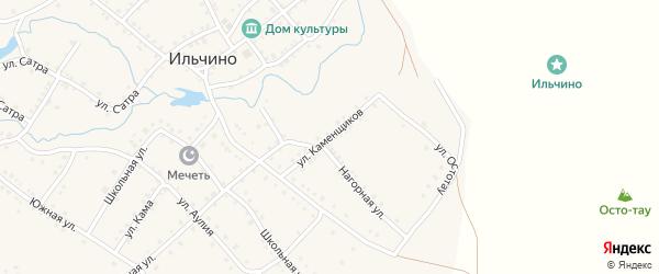 Улица Каменщиков на карте села Ильчино с номерами домов