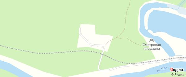 Сосновая улица на карте поселка Серного Ключа с номерами домов