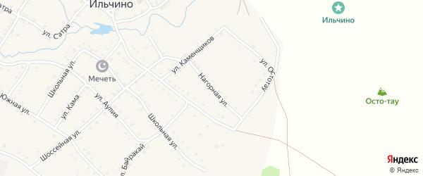 Нагорная улица на карте села Ильчино с номерами домов