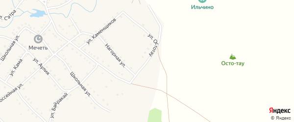 Улица Остотау на карте села Ильчино с номерами домов