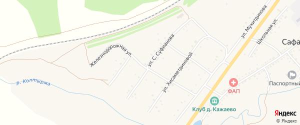 Улица С.Суфианова на карте села Сафарово с номерами домов