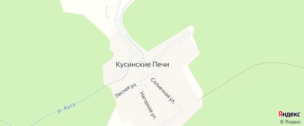 Лесная улица на карте поселка Кусинские Печи с номерами домов