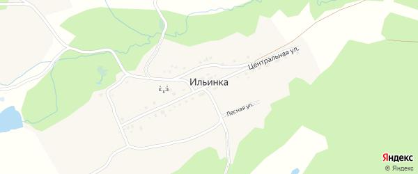 Запрудная улица на карте деревни Ильинки с номерами домов