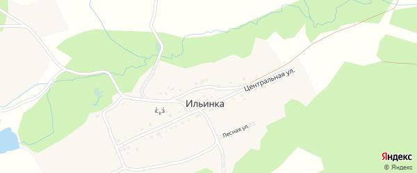 Шартымская улица на карте деревни Ильинки с номерами домов