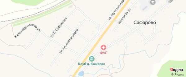 Улица Мухитдинова на карте села Сафарово с номерами домов