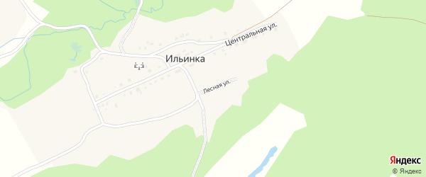 Лесная улица на карте деревни Ильинки с номерами домов