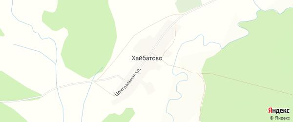 Карта деревни Хайбатово в Башкортостане с улицами и номерами домов