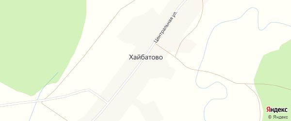 Октябрьская улица на карте деревни Хайбатово с номерами домов