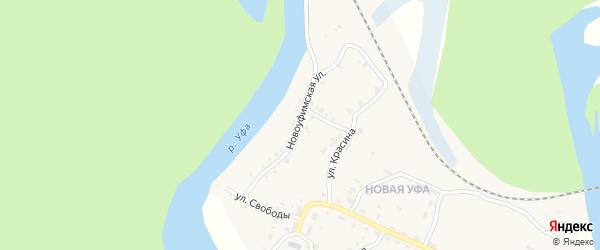Новоуфимская улица на карте Нязепетровска с номерами домов