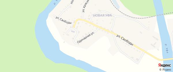Одинарная улица на карте Нязепетровска с номерами домов