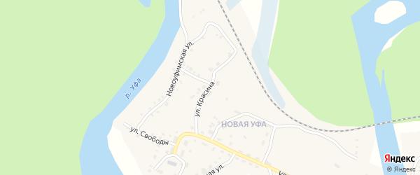 Улица Красина на карте Нязепетровска с номерами домов