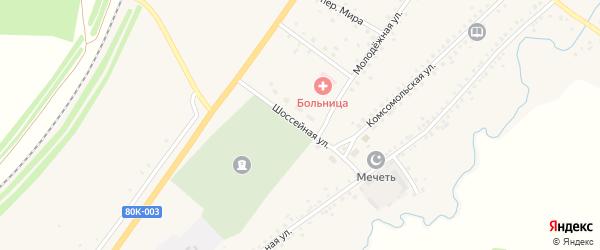 Шоссейная улица на карте села Сафарово с номерами домов