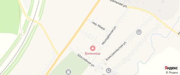Больничный переулок на карте села Сафарово с номерами домов