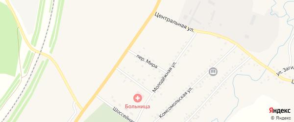 Переулок Мира на карте села Сафарово с номерами домов