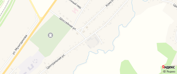 Центральная улица на карте села Сафарово с номерами домов