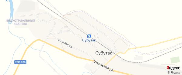Карта железнодорожной станции Субутака в Челябинской области с улицами и номерами домов
