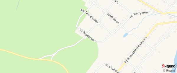 Улица Воровского на карте Нязепетровска с номерами домов