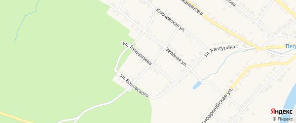 Улица Тимирязева на карте Нязепетровска с номерами домов
