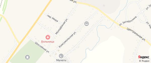 Комсомольская улица на карте села Сафарово с номерами домов