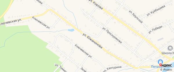 Улица Южанинова на карте Нязепетровска с номерами домов