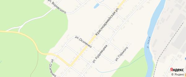 Красноармейская улица на карте Нязепетровска с номерами домов