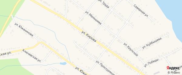 Улица Кирова на карте Нязепетровска с номерами домов