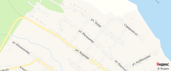 Улица Малышева на карте Нязепетровска с номерами домов