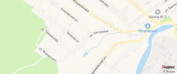 Улица Халтурина на карте Нязепетровска с номерами домов