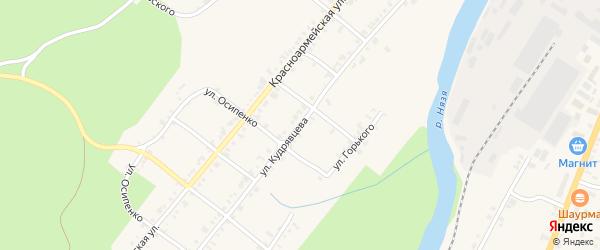 Улица Кудрявцева на карте Нязепетровска с номерами домов