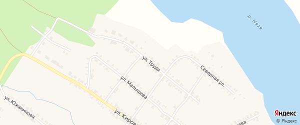 Улица Труда на карте Нязепетровска с номерами домов
