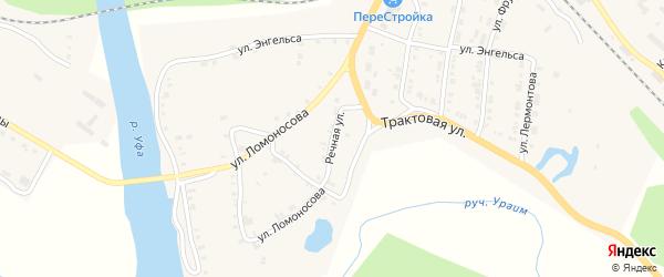Речная улица на карте Нязепетровска с номерами домов