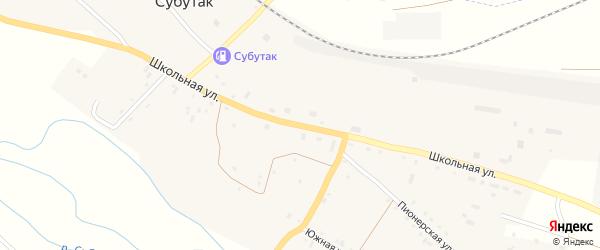 Школьная улица на карте железнодорожной станции Субутака с номерами домов